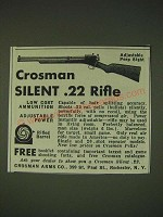 1935 Crosman Silent .22 Rifle Ad - Adjustable Peep Sight