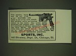 1935 Sports, Inc. Mauser Pistol Ad