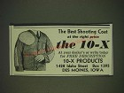1935 10-X Shooting Coat Ad - the best shooting coat at the right price