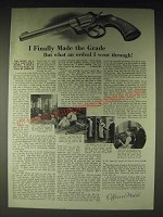 1936 Colt Officers' Model Target Revolver Ad - I finally made the grade