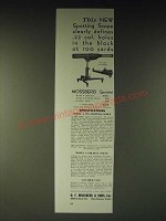 1936 Mossberg Model A Spotshot Spotting  Scope & Model A Folding Stand Ad