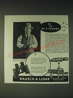 1936 Bausch & Lomb N.R.A. Spotting Scope and Binocular Ad - Ed McGivern