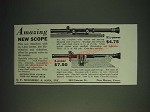 1936 Mossberg Scopes Ad - No. 8A and No. 6 - Amazing new scope