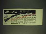1936 Marlin Model 90 Over Under Shotgun Ad