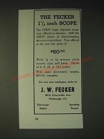 1936 J.W. Fecker 1 1/8 inch Scope Ad