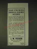 1936 J.W. Fecker Small-Game Scope Ad