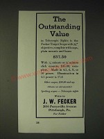 1936 J.W. Fecker Target Scope Ad - The outstanding value