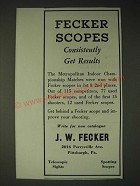 1936 J.W. Fecker Scopes Ad