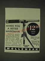 1936 Wollensak Spotting Scope Ad - Makes you a better marksman