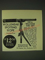 1936 Wollensak Spotting Scope Ad - He'll welcome this gift