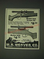 1936 Weaver Model 344 and 329 Scopes Ad