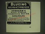 1936 A.F. Stoeger Black Diamond Lightning Bluer Ad - Blueing Revolutionized
