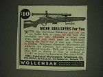 1936 Wollensak Rifle Scopes Ad - More bullseyes for you