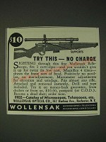 1936 Wollensak Rifle Scopes Ad - Try this - no charge