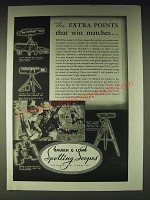 1937 Bausch & Lomb Ad - N.R.A. Spotting Scope, Draw Tube Scope