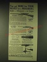 1937 Mossberg Model 46A and 43 Rifles and Spotshot Medlo Spotting Scope Ad