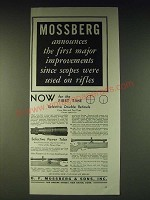 1937 Mossberg Scopes Ad - Mossberg announces the first major improvements