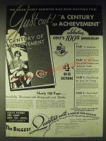 1937 Colt Fire Arms Ad - The book every shooter has been waiting for! Just out!