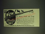 1937 Marlin Model 90 Over and Under Shotgun Ad - New! For Skeet, field and trap