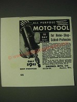 1937 Dremel Moto-Tool Ad - All Purpose Moto-Tool for home-shop-school-profession