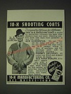 1937 10-X Shooting Coat Ad - designed by Riflemen