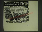 1937 South Bend Lathe Works Ad - What to make and how to make it on a Lathe