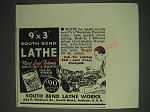 1937 South bend Lathe Works Ad
