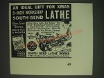 1937 south bend Lathe Works Ad - An ideal gift for Xmas