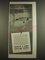 1938 Bausch & Lomb Spotting Scope Ad - Again in 1938 most match winners