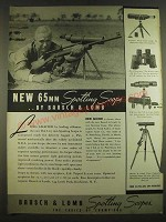 1938 Bausch & Lomb 65mm Spotting Scope Ad - Ned Moor