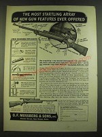 1938 O.F. Mossberg Model 46B and 26B Rifles Ad - The most startling array