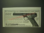 1938 Hi-Standard Model E Pistol Ad - Camp Perry