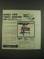 1938 O.F. Mossberg Model A SpotShot Spotting Scope Ad - Double your fun