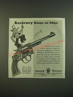 1938 S&W Smith & Wesson Revolver Ad - Accuracy hangs on Align