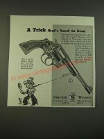 1938 S&W Smith & Wesson Revolver Ad - A trick that's hard to beat