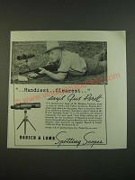 1938 Bausch & Lomb N.R.A. Spotting Scope Ad - Gus Peret