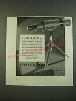 1938 bausch & Lomb N.R.A. Prismatic Spotting Scope Ad - No other scope