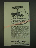 1938 bausch & Lomb N.R.A. Spotting Scope Ad - You'll never know what a help