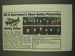 1938 Woolrich Hunting Clothes Ad - All 16 sportsmen's show guides picked out