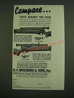 1938 O.F. Mossberg Model 46B and 26B Scopes Ad - Compare