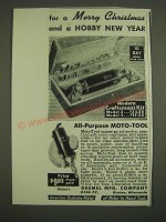1938 Dremel Moto-Tool Ad - For a Merry Christmas and a Hobby New Year