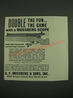 1938 O.F. Mossberg Model 5M4 Scope Ad - Double the fun