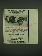 1938 Pachmayr Custom Gun Works Universal Scope Mount Ad