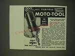 1938 Dremel Moto-Tool Ad - saves time and labor