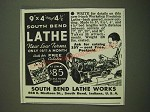 1938 South Bend Lathe Ad