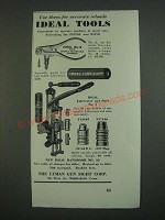 1939 Lyman Ideal Tools Ad - Use them for accurate reloads