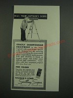 1939 Bausch & Lomb Captain's Scope Ad - Strictly Championship Equipment