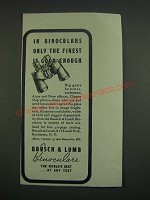 1939 Bausch & Lomb Binoculars Ad - In binoculars only the finest is good enough