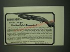 1939 Ithaca Featherlight Repeater Model 37T Shotgun Ad