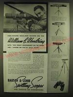 1940 Bausch & Lomb Ad - 65mm Spotting Scope, NRA Spotting Scope, Draw Tube Scope